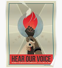 Women's March Protest Poster – Hear Our Voice Poster