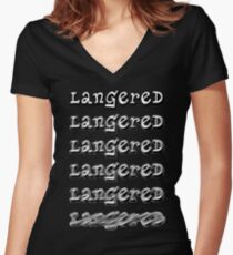 Langered Women's Fitted V-Neck T-Shirt