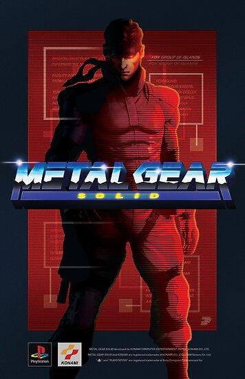 Quot Original Metal Gear Solid Quot Snake Quot Retro Poster Quot Posters