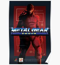 "Original Metal Gear Solid ""Snake"" Retro Poster Poster"
