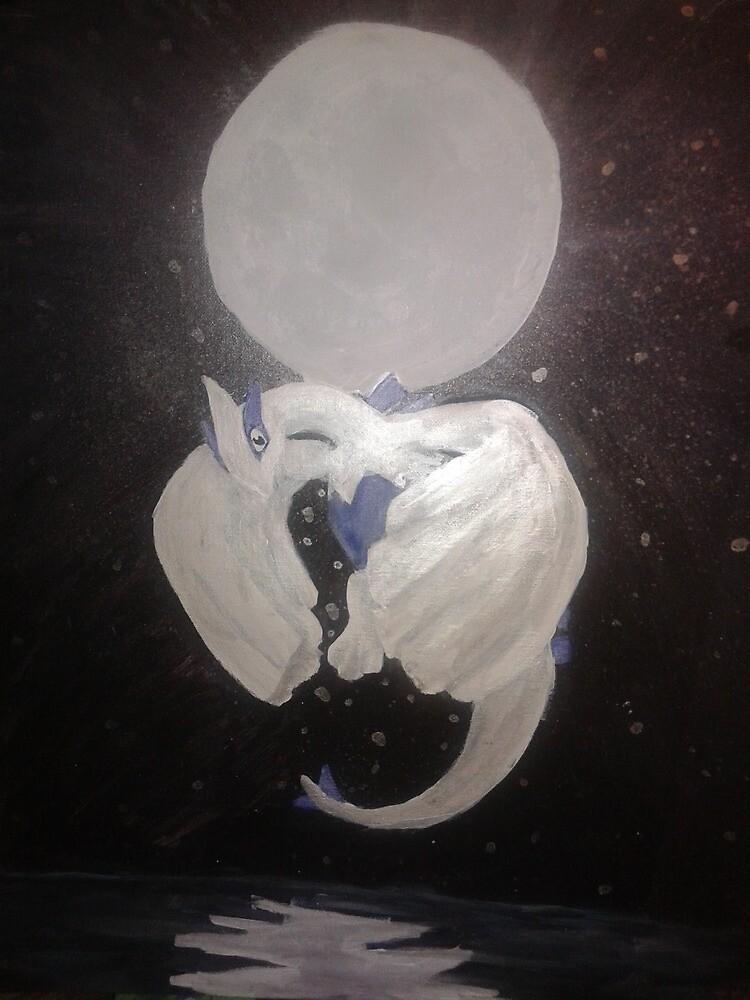 Full moon Lugia by LukasRyan