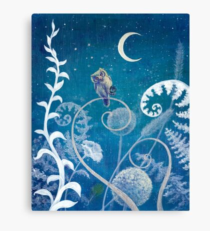 Little Amethyst Owl. Canvas Print
