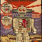 Tino the Heart Operated Toy Robot (Vintage) by barrileart