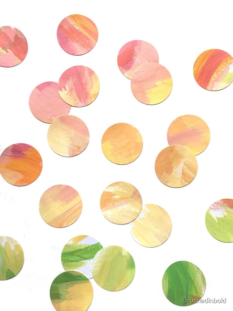 Confetti Random Rainbow Dots by Brushedinbold