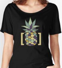 Reddit r/trees Pineapple in Brackets Design Women's Relaxed Fit T-Shirt