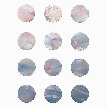 Pastel Blue and Pink Dots by Brushedinbold