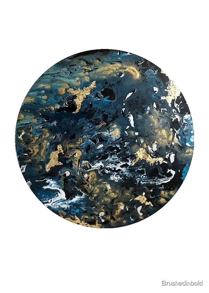 Otherworldly Fluid Abstract World Earth by Brushedinbold