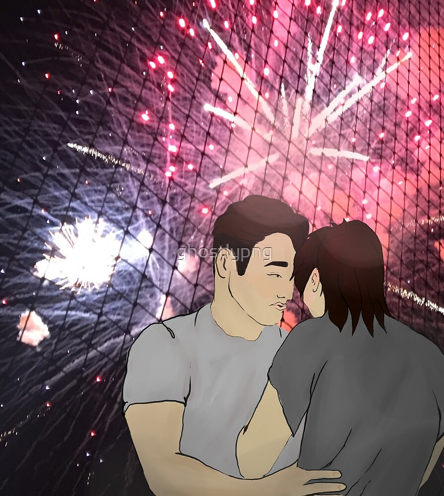 Firework Kiss by ghostlypng