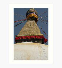 Bouddhanath Stupa Art Print