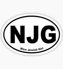 Looking for my Nice Jewish Girl NJG Sticker