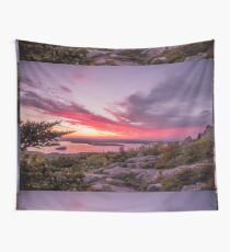 Cadillac Mountain Sunrise Wall Tapestry