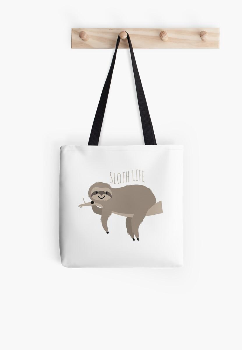 Sloth Life - Happy Lazy Sloth on Branch by Anartsysoul