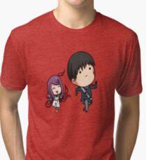 Rize and Kaneki Tokyo Ghoul Tri-blend T-Shirt
