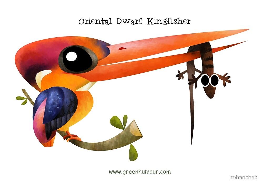 Oriental Dwarf Kingfisher by rohanchak