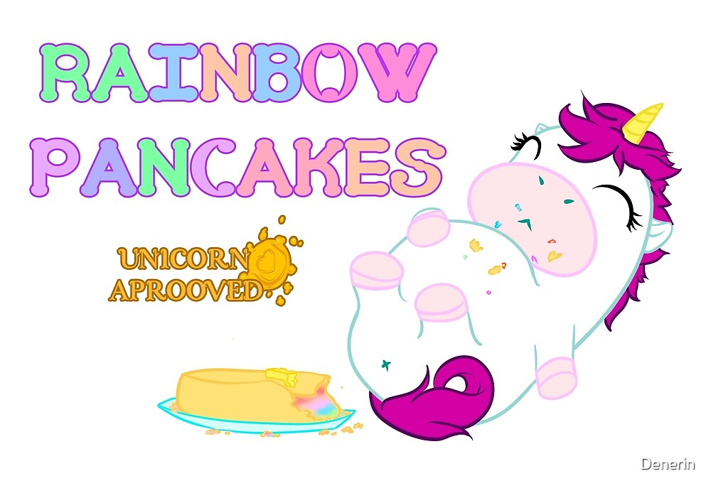 Rainbow Pancakes by Denerin
