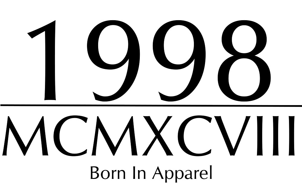 Born In 1998 | MCMXCVIII by BornInApparel