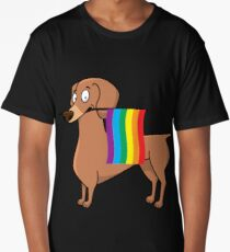 Gay Pride Dachshund Shirt Long T-Shirt