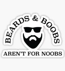 Beards & Boobs Sticker