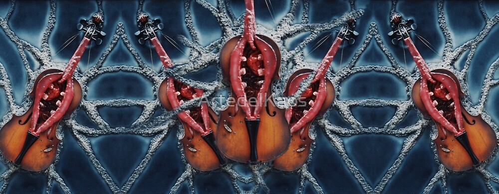 vivisection of a violin sick of love by ArtedelKaos