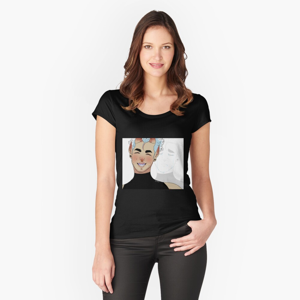 Fake Women's Fitted Scoop T-Shirt Front