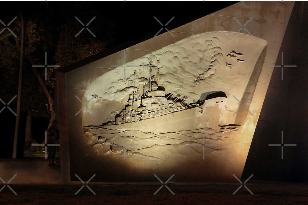 Public Memorial Wall for the USS San Diego, CL-53  by Heather Friedman