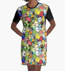 Everybirdy Muster T-Shirt Kleid