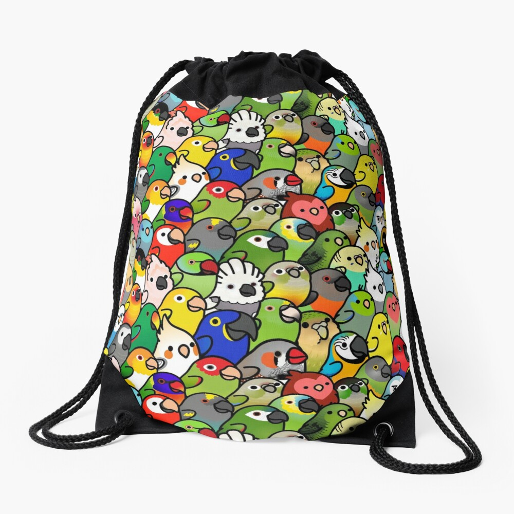 Everybirdy Pattern Drawstring Bag
