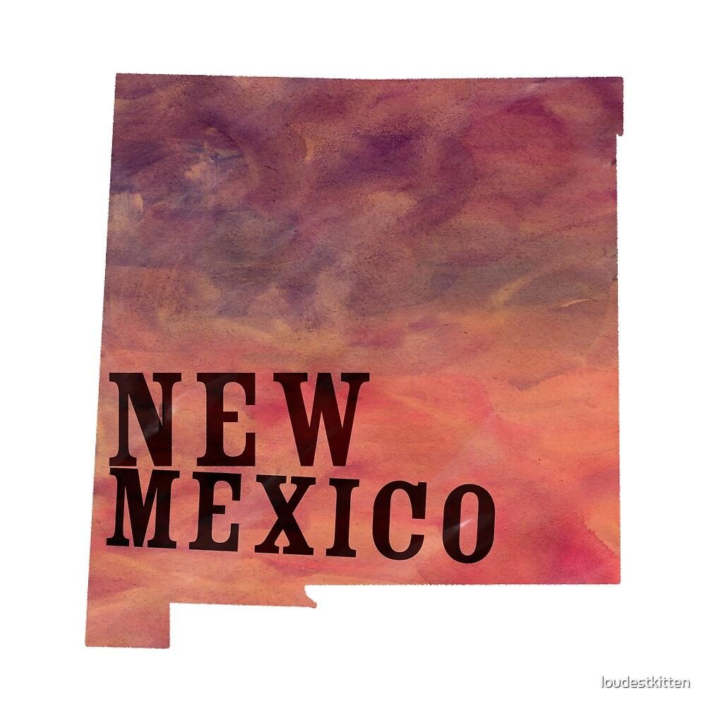 New Mexico - Watercolor by loudestkitten