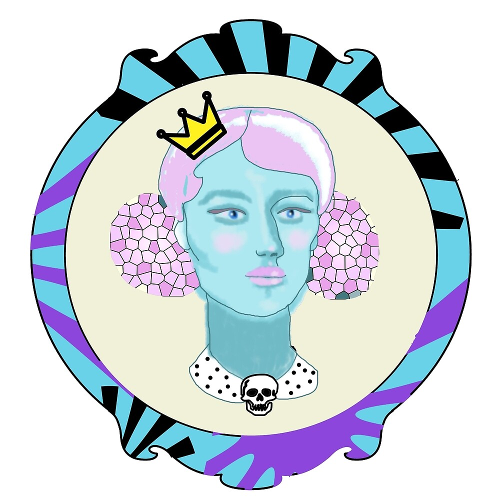 Marshmellow Queen Petite Portrait by Barbara Gelman