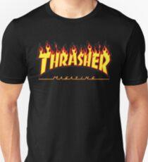 Thrasher Magazine - Awesome Flaming Skater Design T-Shirt