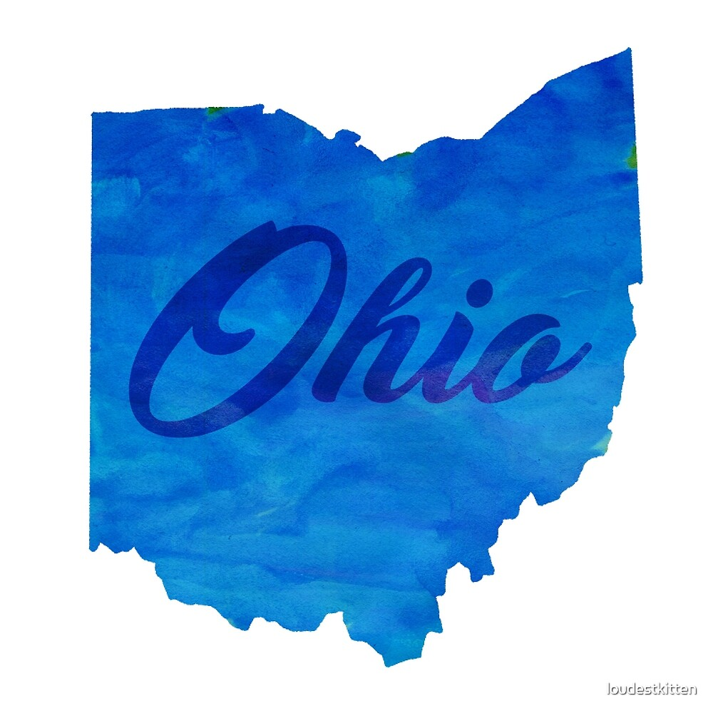 Ohio - Watercolor by loudestkitten