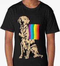 Gay Pride Labrador Shirt Long T-Shirt