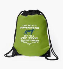 Not Superhero But Vet Tech  Drawstring Bag