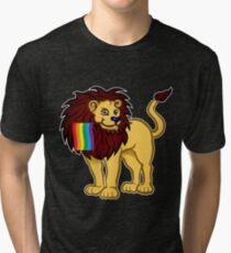 Gay Pride Lion Shirt Tri-blend T-Shirt