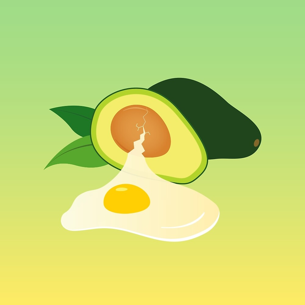 Egg Avocado by reistyle