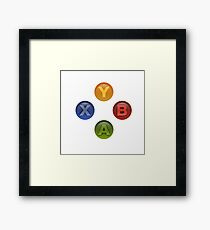 Xbox Buttons White Framed Print