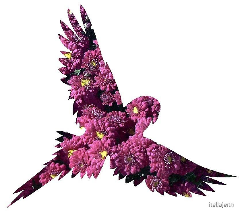 Flowers inside birds by hellajenn