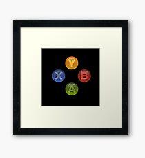 Xbox Buttons Black Framed Print