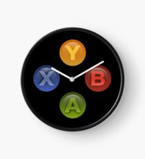 Xbox Buttons Black Clock