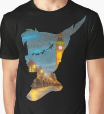 Peter Pan Over London  Graphic T-Shirt