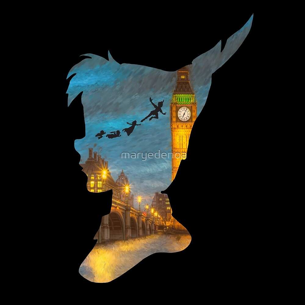 Peter Pan Over London  by maryedenoa
