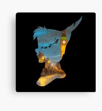 Peter Pan Over London  Canvas Print