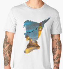 Peter Pan Over London  Men's Premium T-Shirt