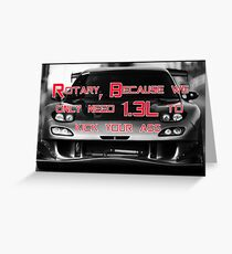 Mazda rotary neon  Greeting Card