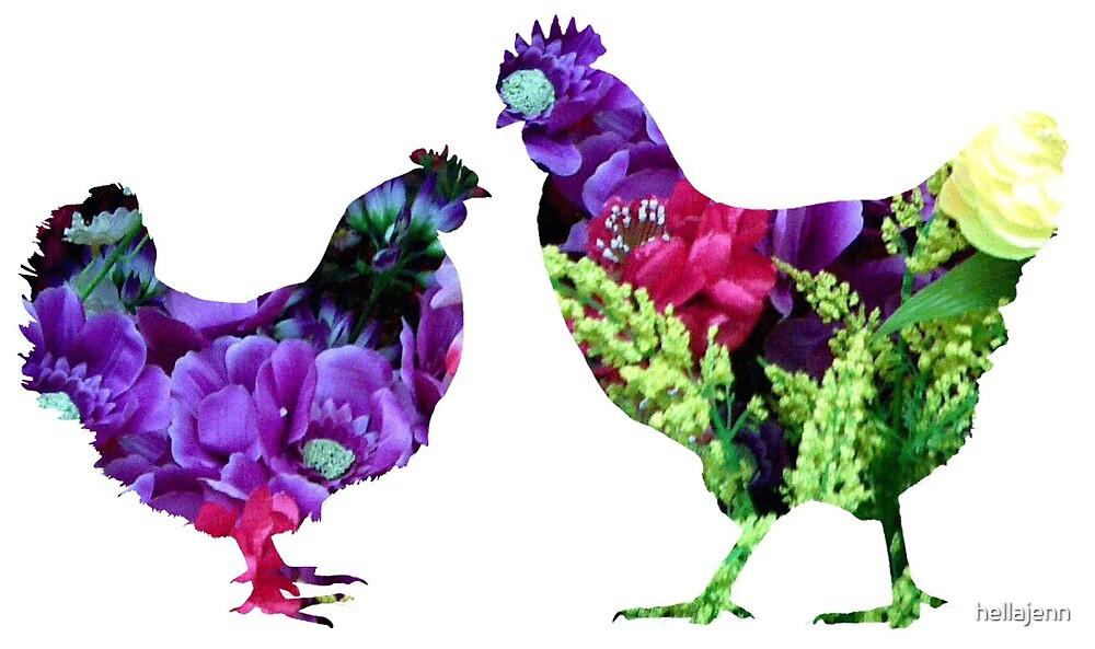 Flowers inside hen and roo by hellajenn