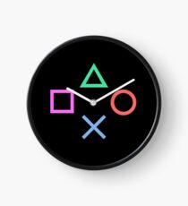 Playstation Buttons Black Clock