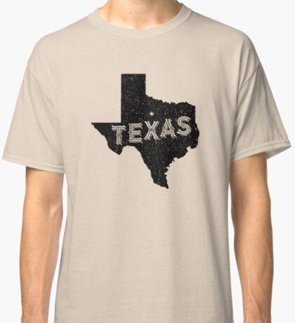 Texas State Shapes - Retro & Vintage Classic T-Shirt