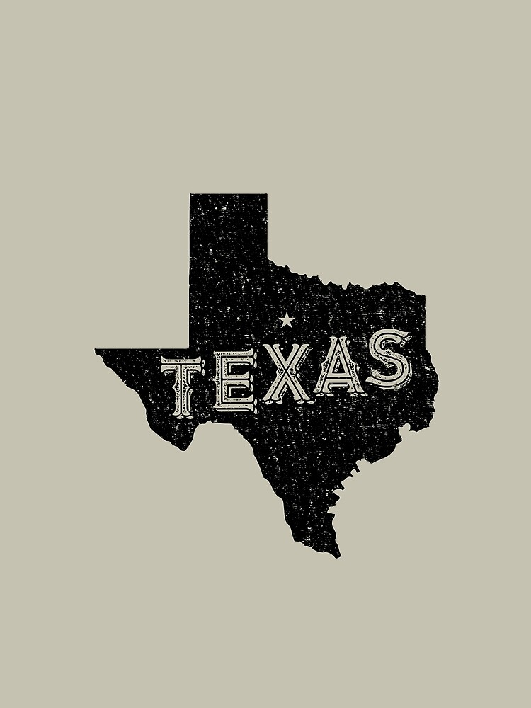Texas State Shapes - Retro & Vintage by Chocodole