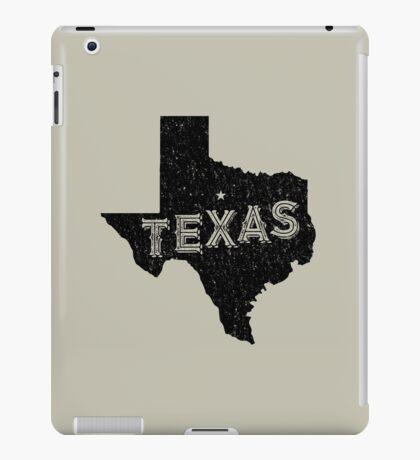 Texas State Shapes - Retro & Vintage iPad Case/Skin