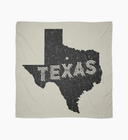 Texas State Shapes - Retro & Vintage Scarf